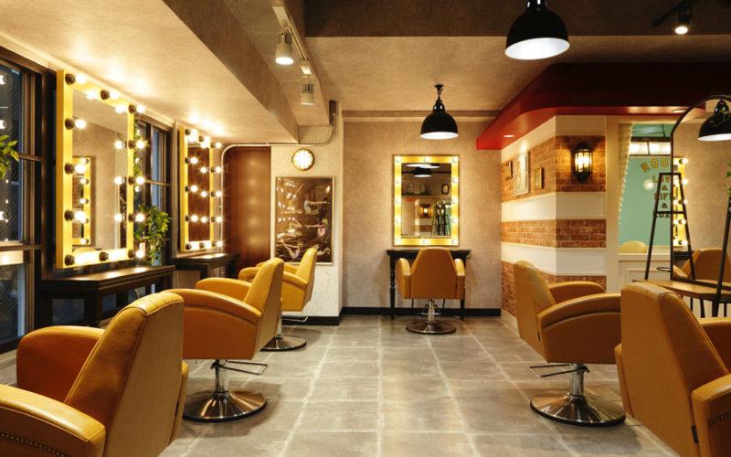 美容室内装画像 アメリカン ブルックリン アンティーク