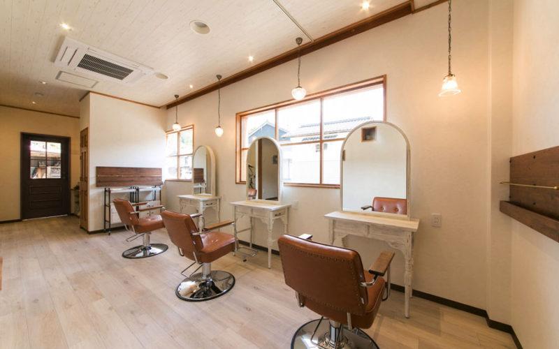 美容室内装画像 フレンチ アンティーク ナチュラル